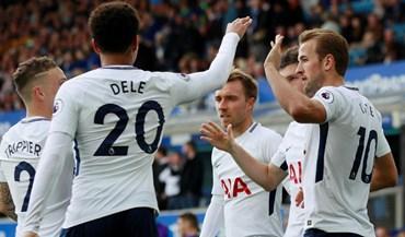 Tottenham vence em casa do Everton com bis de Harry Kane