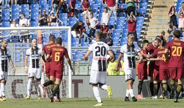 Roma vence Udinese e sobe ao quarto lugar da Serie A