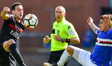 André Silva assiste do banco a nova derrota do Milan