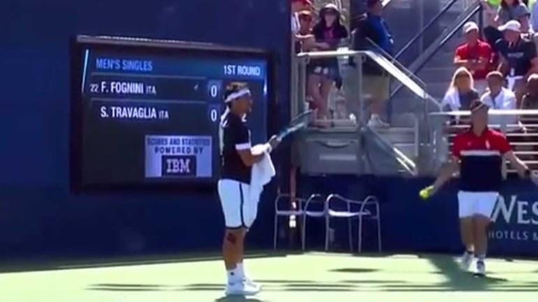 Fabio Fognini foi expulso do US Open por causa disto