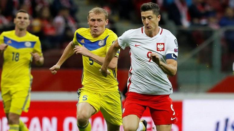 Mundial 2018: Polónia vence e lidera, Montenegro segue na perseguição