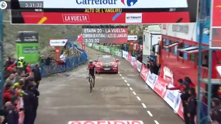 Triunfo no Angliru na despedida de Contador