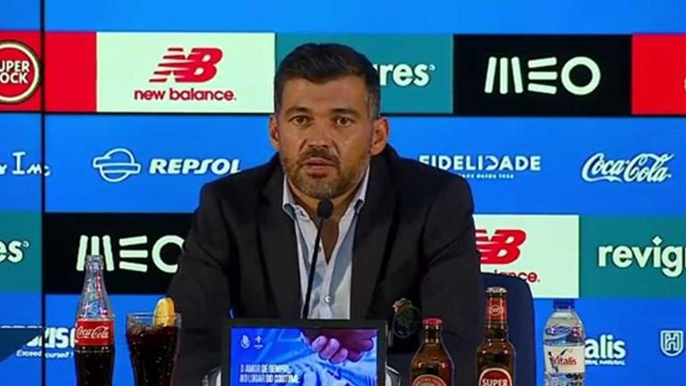 Sérgio Conceição recorda: «No jogo do Benfica com o Sp. Braga não houve linhas...»
