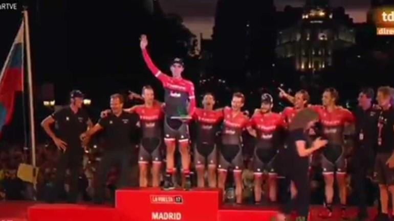 A despedida de um campeão: assim foi a última subida ao pódio de Contador
