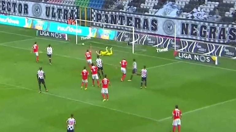 Renato Santos fez assim o empate no Boavista-Benfica