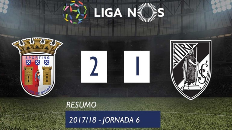 O resumo do Sp. Braga-V. Guimarães (2-1)