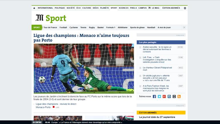 Imprensa internacional rendida à vitória do FC Porto no Mónaco