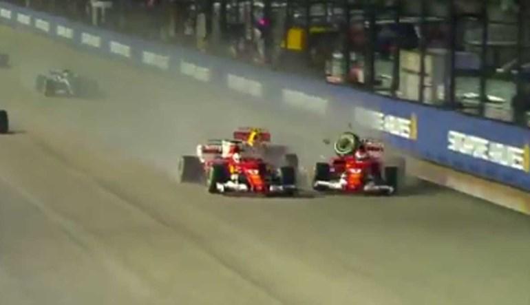 Räikkönen reage a acidente via rádio... e o melhor é tapar os ouvidos