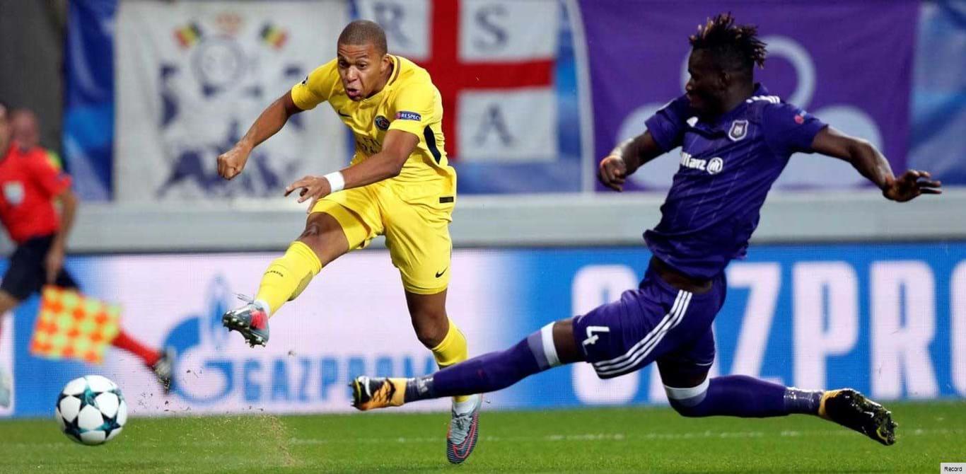 Grupo B: Anderlecht-Paris SG, em direto