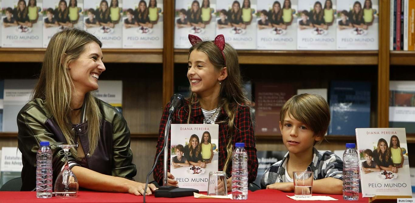 Diana Pereira apresenta livro de receitas