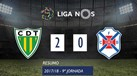 O resumo do Tondela-Belenenses (2-0)