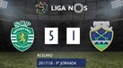 O resumo do Sporting-Chaves (5-1)