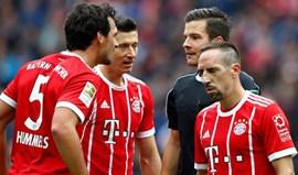 Bayern deixa fugir vantagem de dois golos e cede empate em Berlim