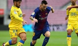 Las Palmas diz que Barcelona compreendeu decisão de utilizar bandeira de Espanha