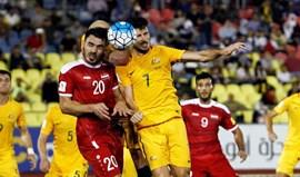 Síria e Austrália empatam (1-1) na1.ª mão do playoff asiático