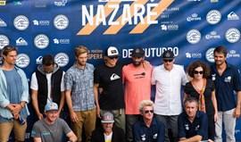 À espera de ondas grandes para o Nazaré Challenge