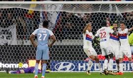 Monaco perde em Lyon com golo nos descontos