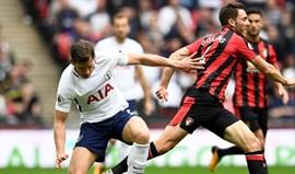 Tottenham vence e aproxima-se do Man. United