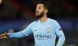 Manchester City goleia Stoke com golo de Bernardo Silva