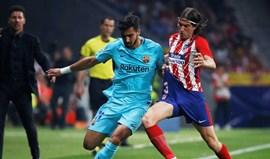 Atlético Madrid 'rouba' primeiros pontos ao Barcelona