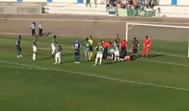 Central do Moreirense sai do jogo com o Canelas transportado para o hospital