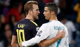 Kane recebeu camisola de Ronaldo: «Vou ter de aemoldurar»