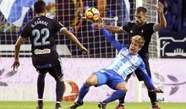 Málaga festeja primeira vitória no campeonato