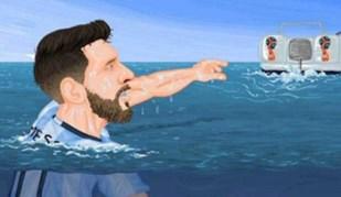 Internet faz chacota da Argentina de Messi