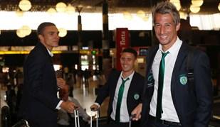 Boa disposição e uma novidade no Sporting a caminho de Turim