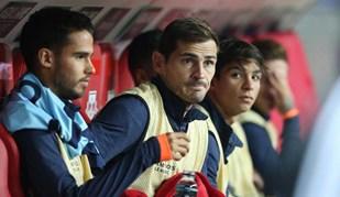 Num lugar pouco habitual, Casillas viveu assim a partida na Alemanha
