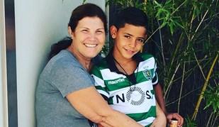 Dolores Aveiro mostra Cristianinho equipado à Sporting