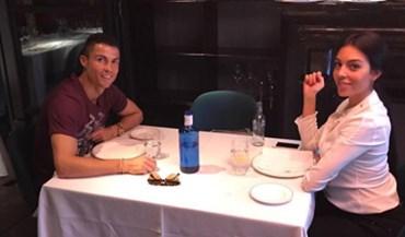 Cristiano Ronaldo num almoço muito especial