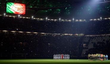 Estádio da Juventus escureceu e vestiu-se com as cores portuguesas