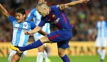 Barça bate Málaga em jogo marcado pela polémica