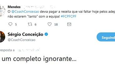 O tweet que levou Sérgio Conceição a pedir desculpa a um adepto