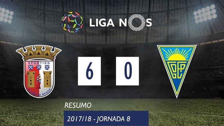 O resumo do Sp. Braga-Estoril (6-0)