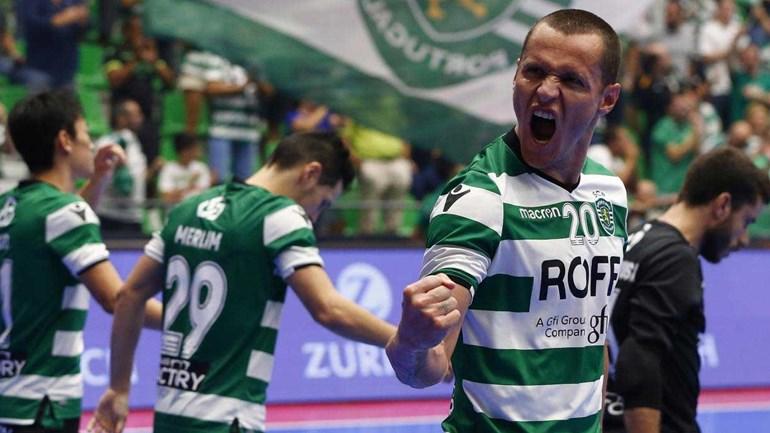 Sporting estreia-se com goleada frente ao Kherson — UEFA Futsal Cup