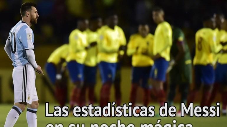 Os números da noite mágica de Messi