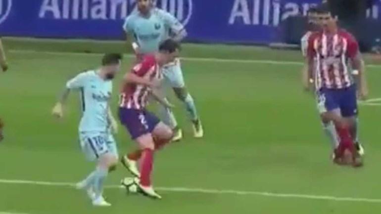 E chegou o dia em que Messi provou do seu próprio veneno...