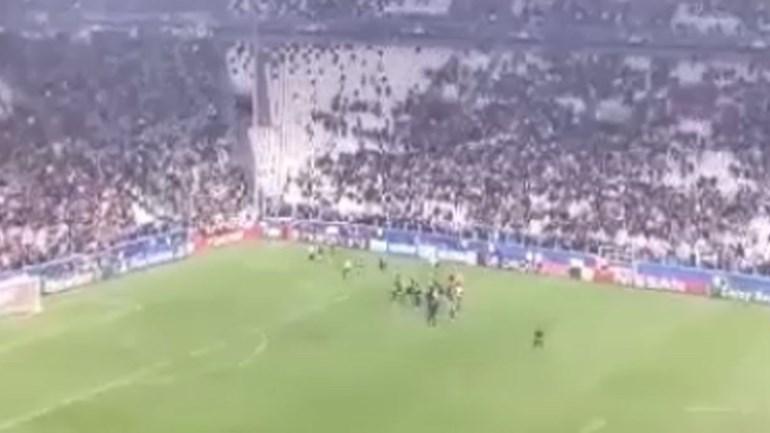 À imagem da equipa: adeptos do Sporting também brilharam em Turim