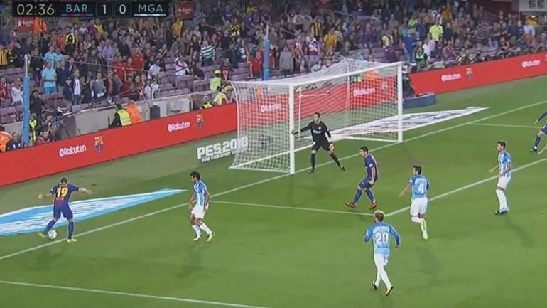 Barça adianta-se frente ao Málaga com golo irregular