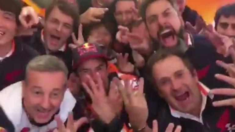 Marc Márquez venceu na Austrália e já começou a festejar mais um título