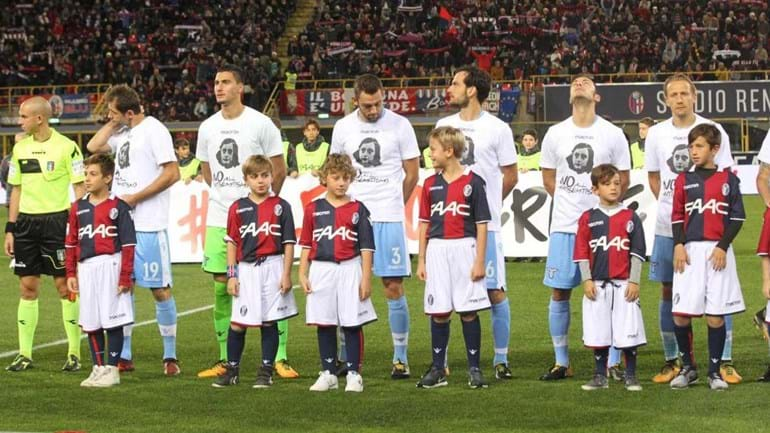Lazio entrou em campo com mensagem que ninguém esquece