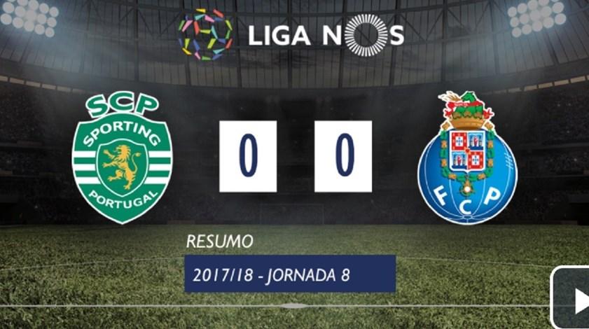 Os melhores momentos do Sporting-FC Porto (0-0)