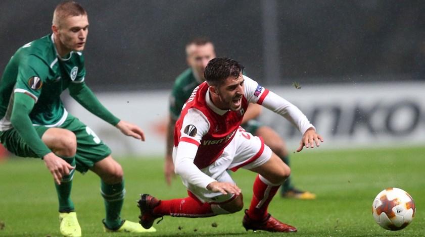 Crónica do Sp. Braga-Ludogorets, 0-2: Golo anedótico matou a reação