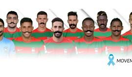 Jogadores do Marítimo dão um bigode com 'Movember'