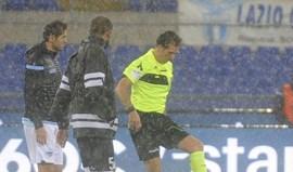 Jogo entre Lazio e Udinese adiado devido ao mau tempo