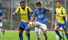 União da Madeira e Belenenses empatam a um golo