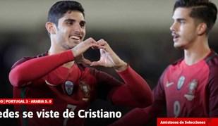 Sem Ronaldo na Seleção espanhóis aplaudem Guedes