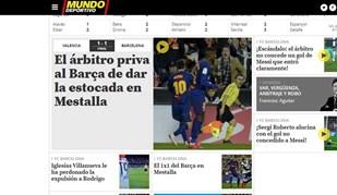 Árbitro ficou com as orelhas a arder depois de não ter validado golo de Messi